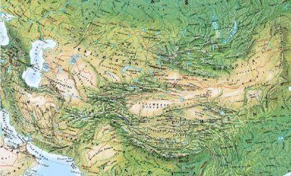 Carte de l'Asie Centrale