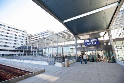 Entrée de l'hôpital de Besançon