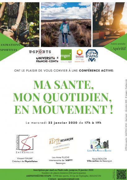 Conférence active Ma santé, mon quotidien en mouvement !