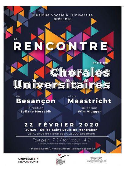 Rencontre entre les Chorales U. de Besançon et Maastricht