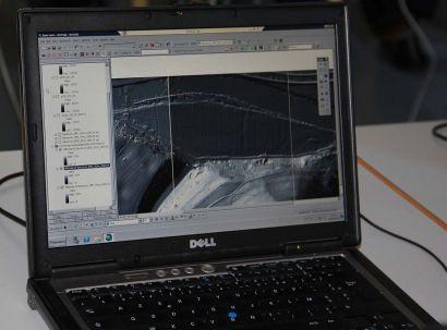Vue Lidar sur écran d'ordinateur