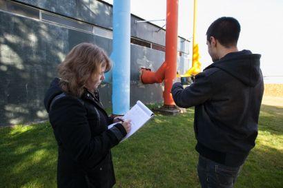 Etudiants participant au challenge Construction durable