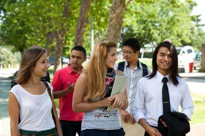 Un groupe d'étudiants étrangers