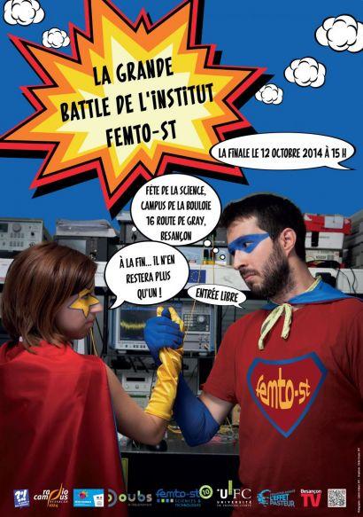 Affiche de la finale de la Grande Battle de l'institut FEMTO-ST