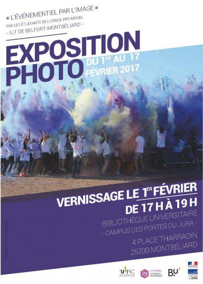 L'événementiel par l'image, une expo par les étudiants de l'IUT de Belfort-Montbéliard spécialisés dans l'événementiel