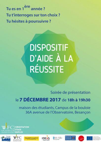 Soirée de présentation - aide à la réussite, Besançon