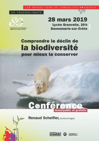 Affiche conférence biodiversité Dannemarie