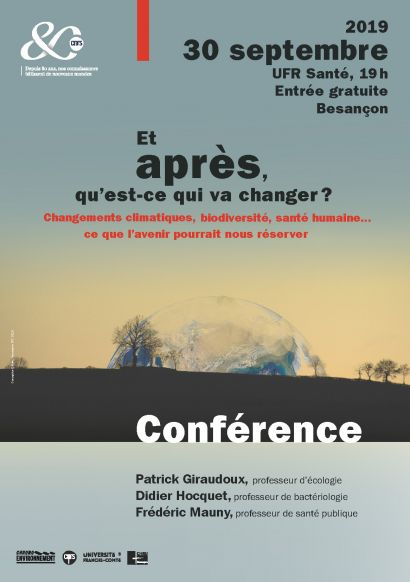 affiche conférence Changement global