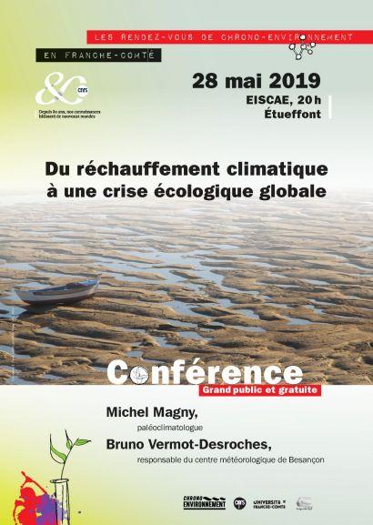 affiche conférence Réchauffement Climatique