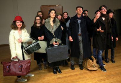 Photo des comédiens du Théâtre universitaire