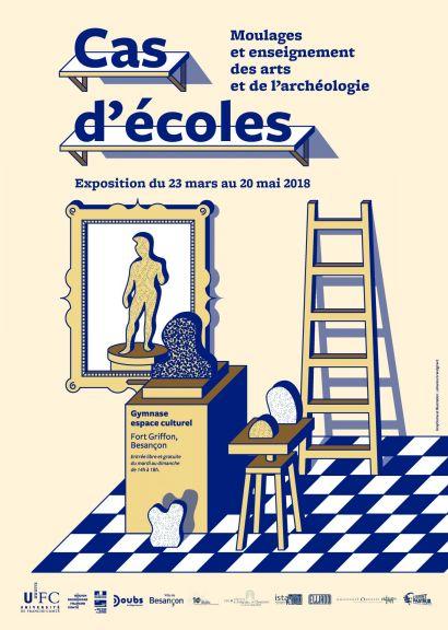 Affiche exposition Cas d'écoles