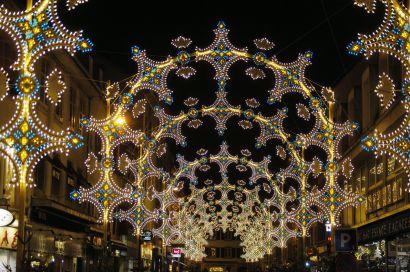 Illuminations de noël à Montbéliard.