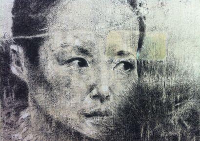 Peinture d'un visage