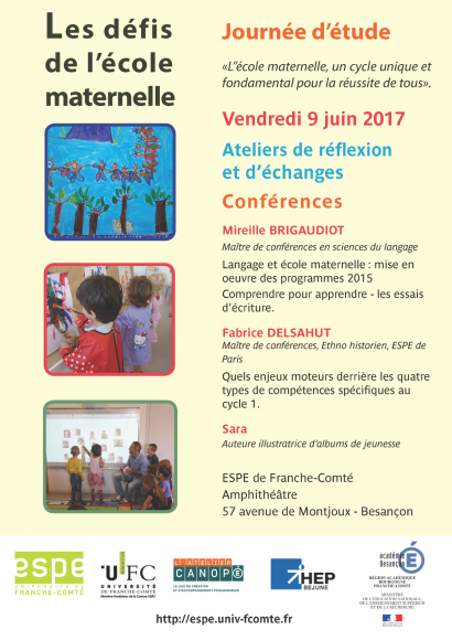 Affiche de la journée sur l'école maternelle