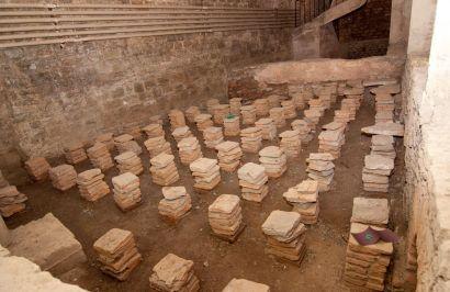 Photo de la salle à hypocauste de la villa romaine