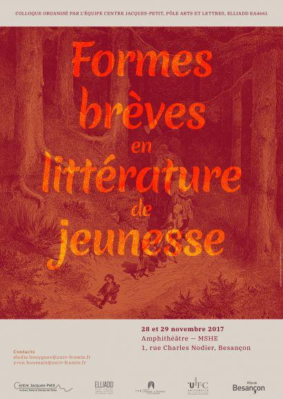 """Colloque """"Formes brèves en littérature de jeunesse"""""""