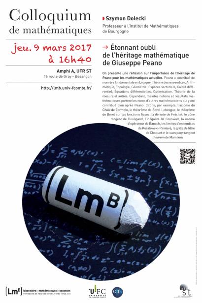 Affiche du colloquium de mathématiques