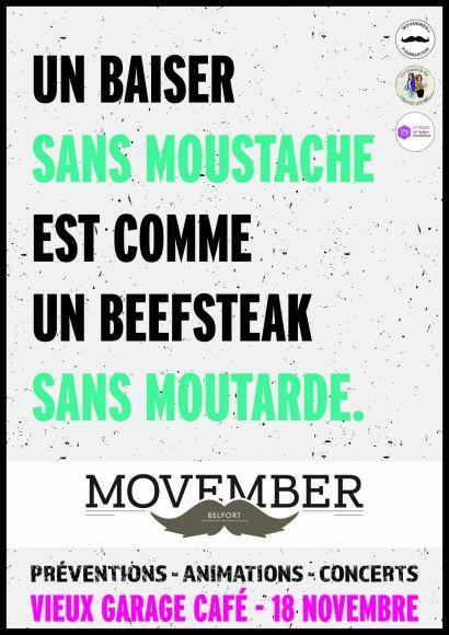 Movember: le soutien de la moustache