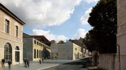 Vue du futur bâtiment de la MSHE