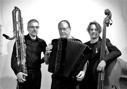 Ugo Boscain, Fred Marty et Claude Parle, musiciens