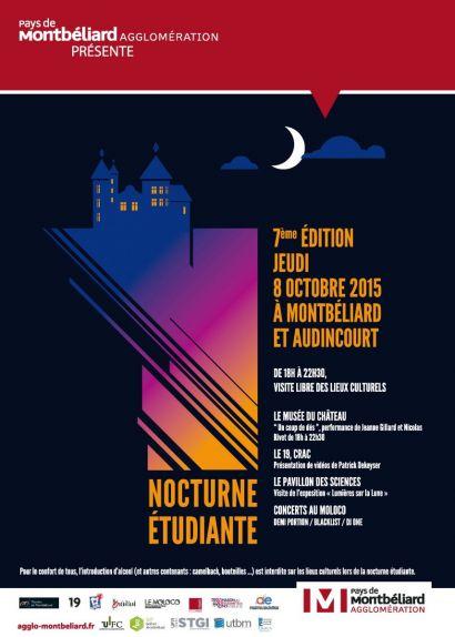 Nocturne étudiante: découverte festive des lieux culturels du Pays de Montbéliard