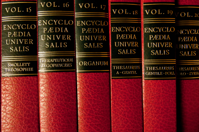 Photos de volumes d'encyclopédie