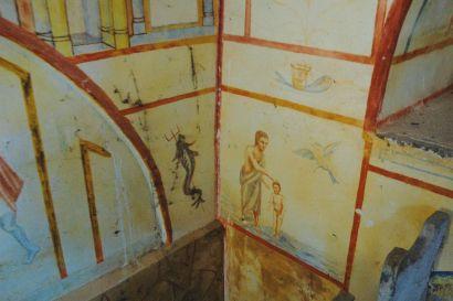 Peintures à l'intérieur de la chapelle de Pierre Pfister à Rainans