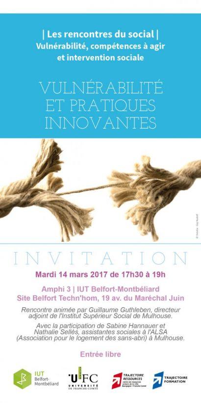 Rencontres du social à l'IUT de Belfort-Montbéliard: vulnérabilité et pratiques innovantes
