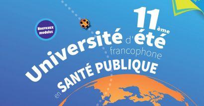 Affiche de la 11e université d'été francophone en santé publique