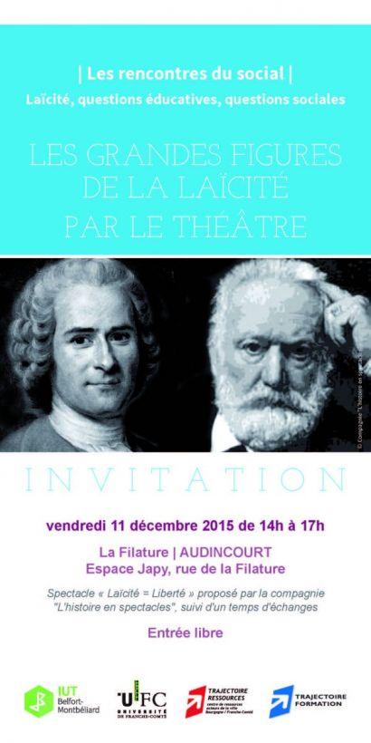 Les rencontres du social: les grandes figures de la laïcité par le théâtre (spectacle et débat)