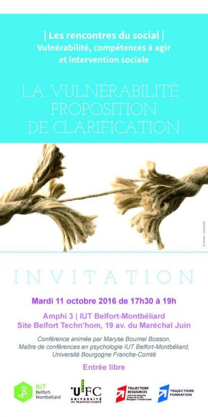 Premier rendez-vous des Rencontres du social 2016-2017 à l'IUT de Belfort-Montbéliard