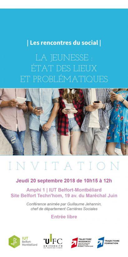 Rencontres du social 2018-2019 : la jeunesse au programme