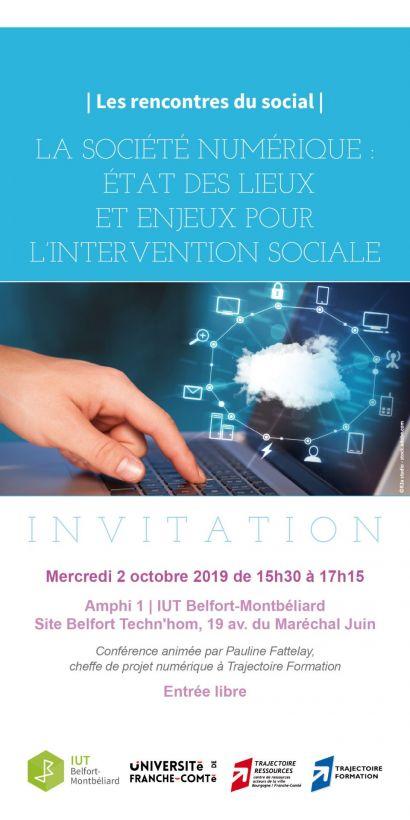 Rencontres du social: 1er rendez-vous mercredi 2 octobre à l'IUT de Belfort-Montbéliard