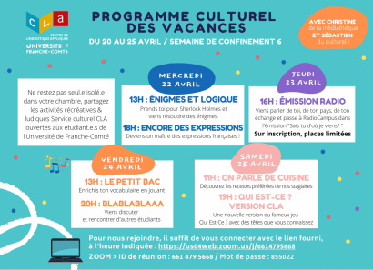 programme culturel CLA
