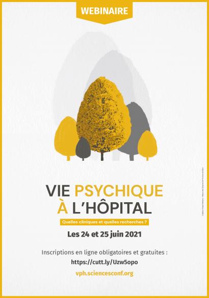 Affiche Vie psychique à l'hôpital, quelles cliniques? Quelles recherches?