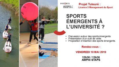 Sports émergents à l'Université
