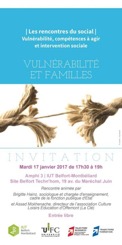Rencontres du social à l'IUT de Belfort-Montbéliard: vulnérabilité et familles