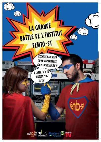 Affiche des sélections de la grande battle de l'institut FEMTO-ST