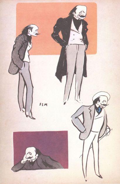 Caricatures d'Edmond Rostand (vers 1914)