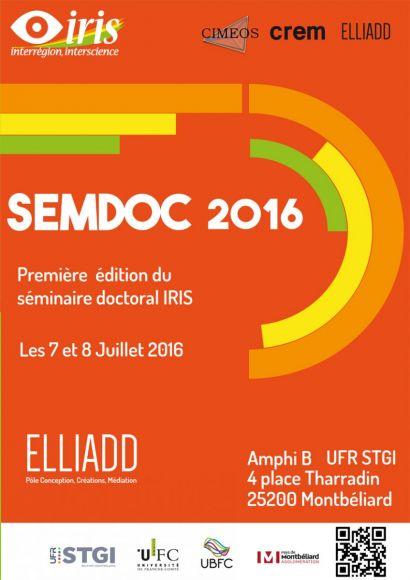 Affiche SEMDOC 2016