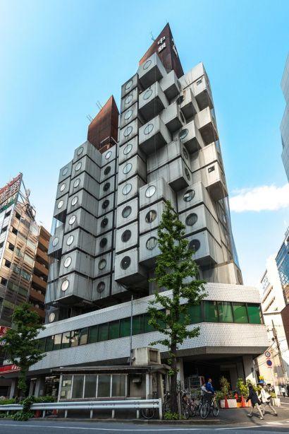 La Nakagin Capsule Tower à Tokyo