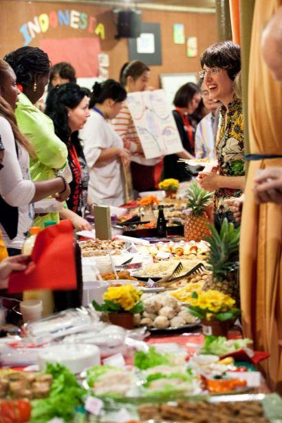 plats variés sur la table