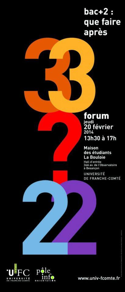 affiche forum bac + 2
