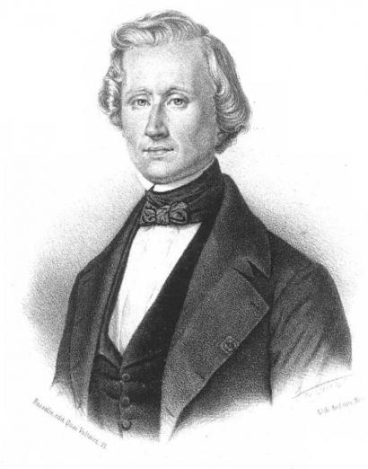 Portraite d'Urbain le Verrier (gravure)