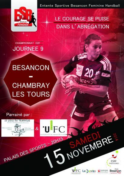 Affiche match ESBF-Chambray les Tours