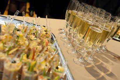 Verrines et champagne