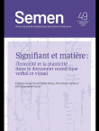 Semen 49 - Signifiant et matière : l'iconicité et la plasticité dans le document numérique verbal et visuel