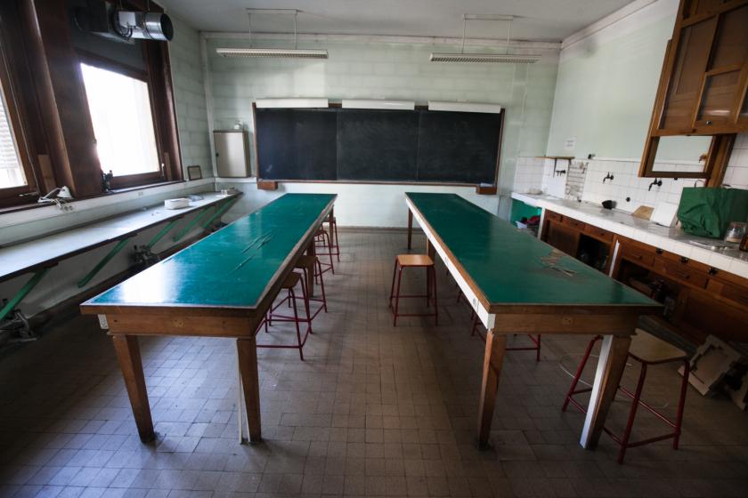 Une ancienne salle de travaux pratiques.