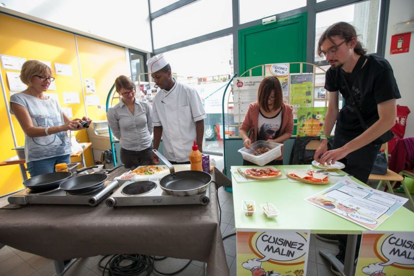 Atelier cuisine avec le chef cuisinier du Crous