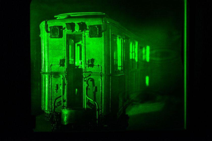 Hologramme de la maquette d'une Sprague (wagon de métro).